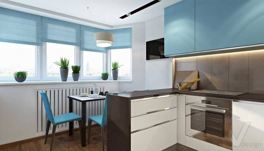Кухня в квартире П-44Т в г. Московский - 1