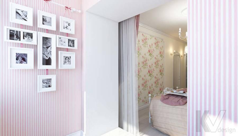 дизайн спальни в 3-комнатной квартире, Новая Москва - 5