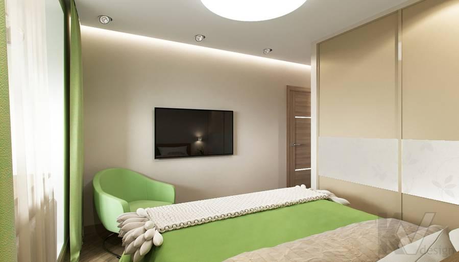 Дизайн спальни в 2-комнатной квартире, Некрасовка Парк - 2