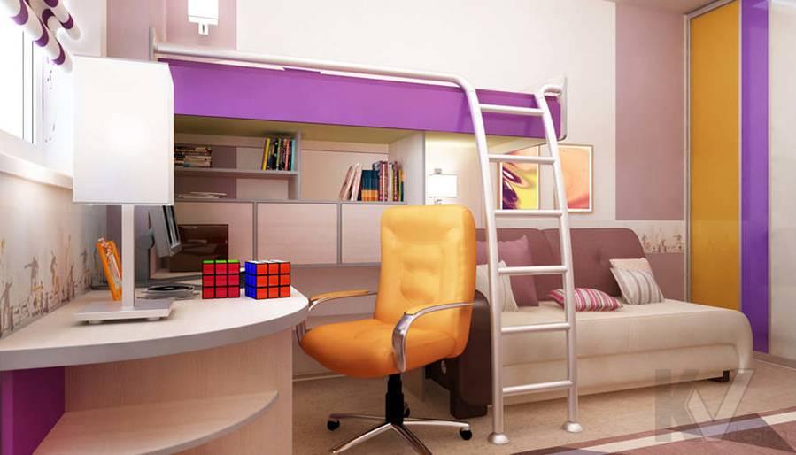 Дизайн детской в двухкомнатной квартире, Подольск - 3