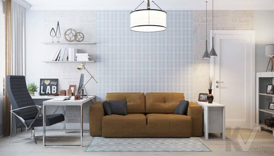 Дизайн кабинета в квартире П-3М на Профсоюзной - 2