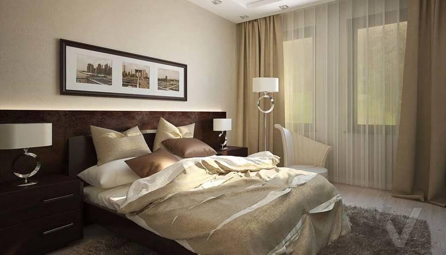 Таунхаус в п. Павлово, дизайн спальни - 4