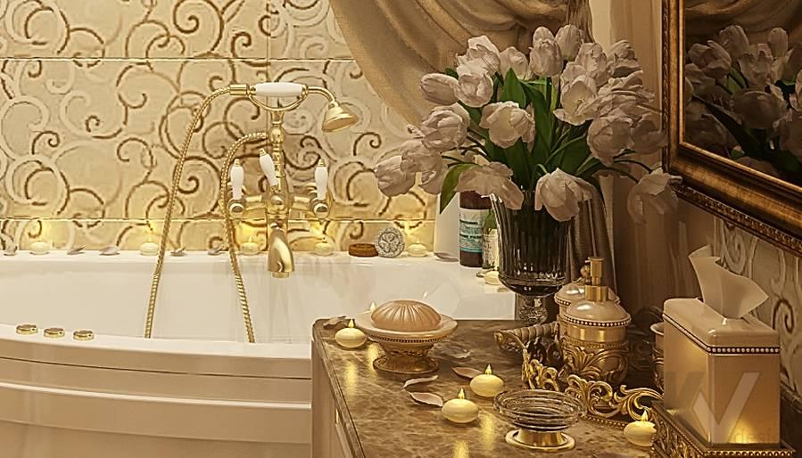 Дизайн квартиры на м. Смоленская, ванная - 2