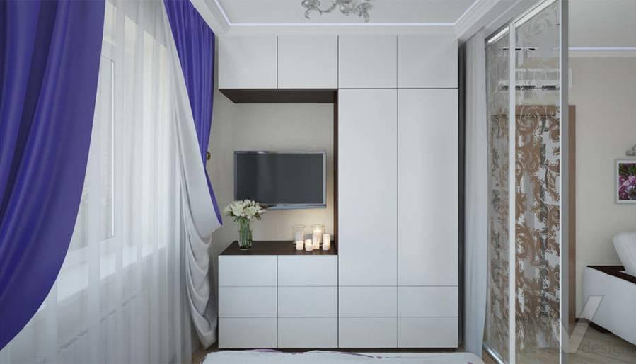 Дизайн спальни в 2-комнатной квартире - 2