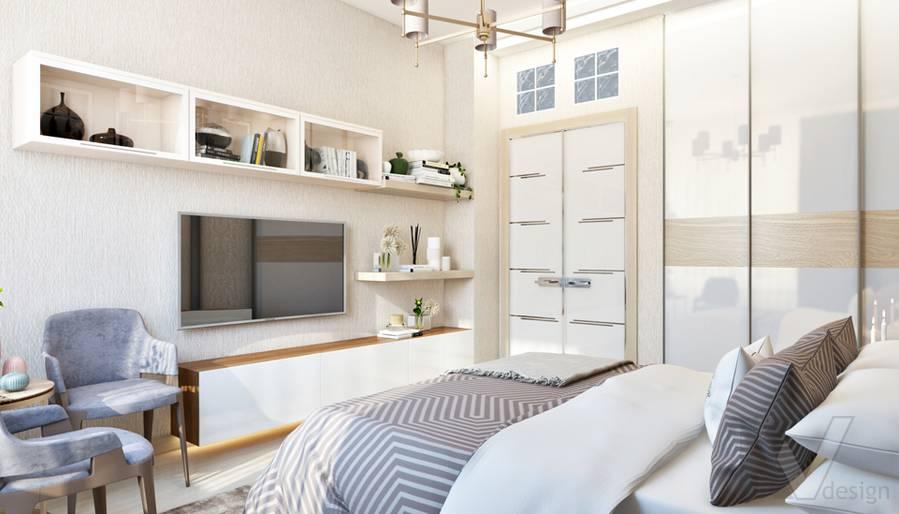 Дизайн спальни в квартире, ЖК Авеню-77 - 3