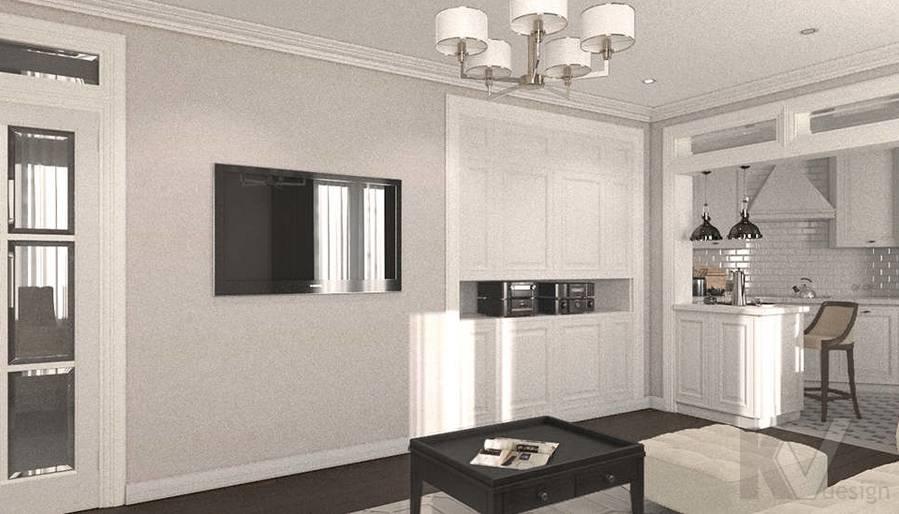 дизайн гостиной-кухни в 3-комнатной квартире, Welton Park - 3