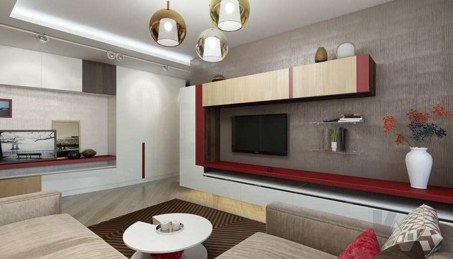 дизайн гостиной в 3-комнатной квартире П-44Т, Речной вокзал - 4