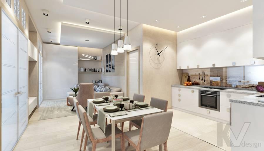 Дизайн гостиной в квартире, ЖК Авеню-77 - 3