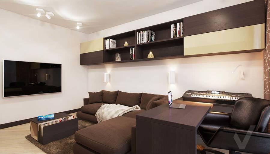 дизайн гостиной в квартире П-3М, Владыкино - 4
