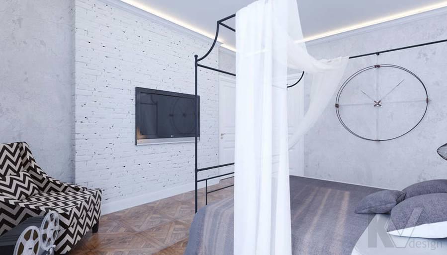 Дизайн хозяйской спальни в доме, КП Монтевиль - 3