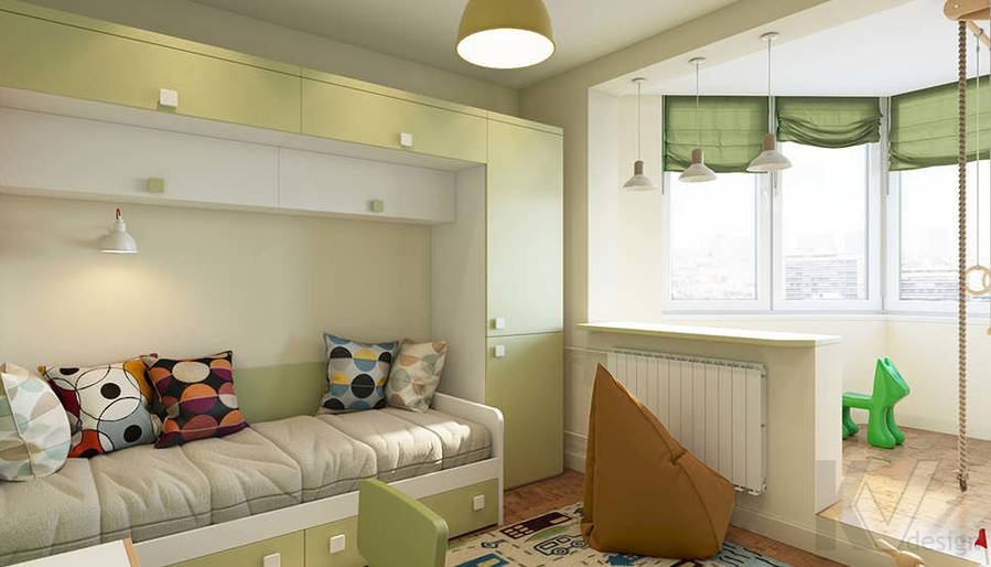 Дизайн детской в 2-комнатной квартире П-44Т, Московский - 1