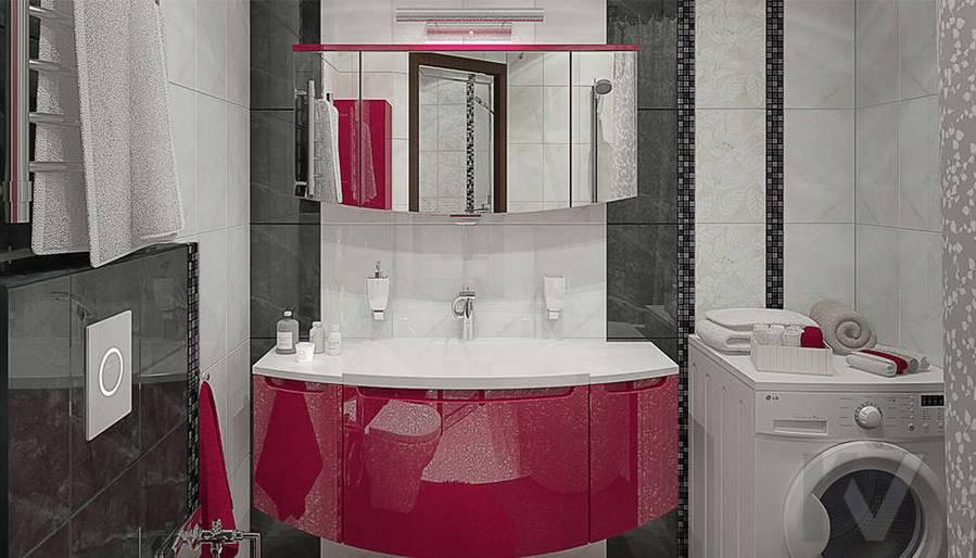 Дизайн ванной в 2-комнатной квартире - 1