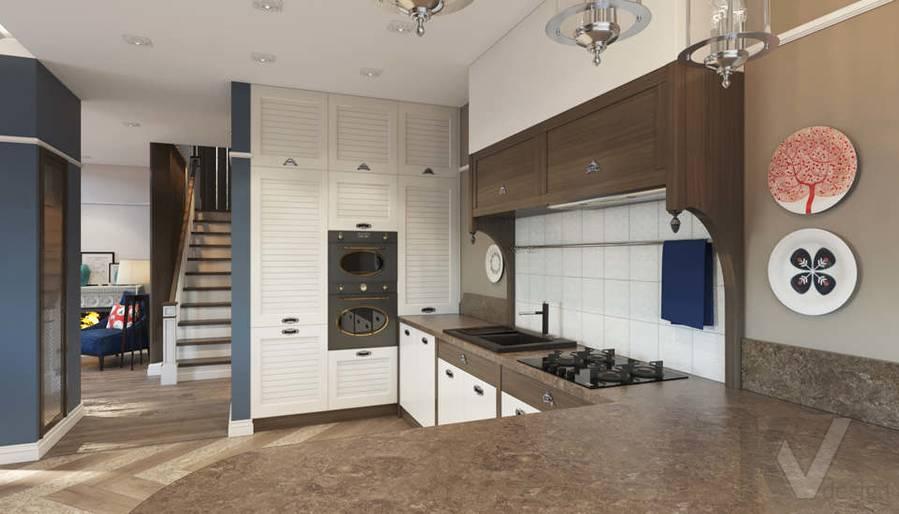 Дизайн кухни в коттедже, КП «Vita Verde» - 1
