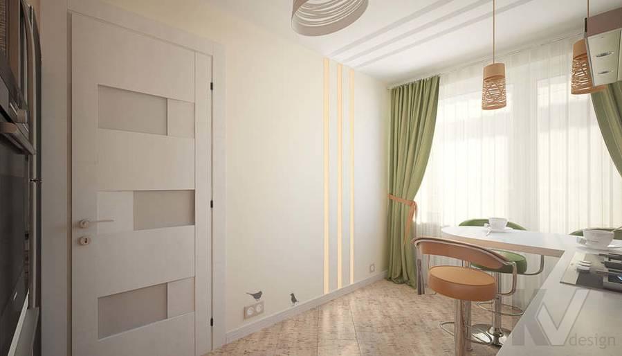 Дизайн квартиры-студии, Коломенская - 8