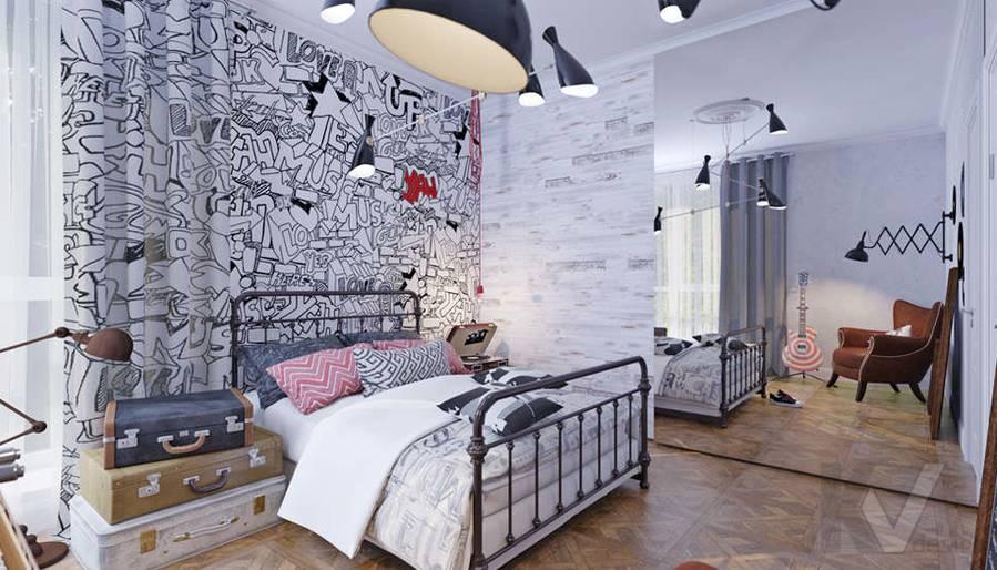 Дизайн спальни дочери в доме, КП Монтевиль - 2
