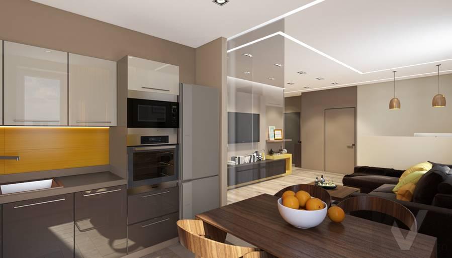 дизайн кухни в квартире на проспекте Вернадского - 1