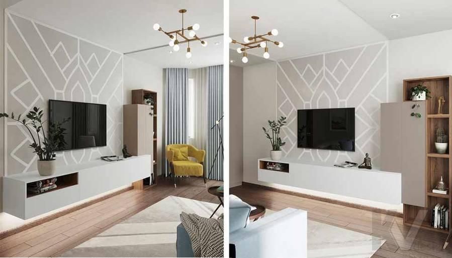 Дизайн гостиной в квартире серии П-3М, Южное Бутово - 4