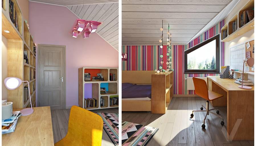 Дизайн детской младшей дочери в трехэтажном доме - 4
