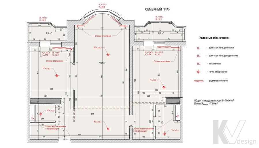 Дизайн квартиры И-155, план