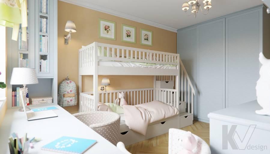 Дизайн детской в квартире серии П-3, Ясенево - 4