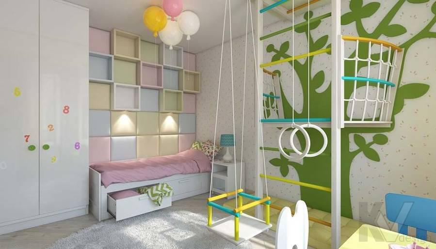 Дизайн детской в 2-комнатной квартире в Мытищах - 2