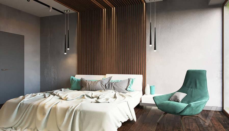 """Дизайн спальни в доме,  КП """"Западная Долина"""" - 3"""