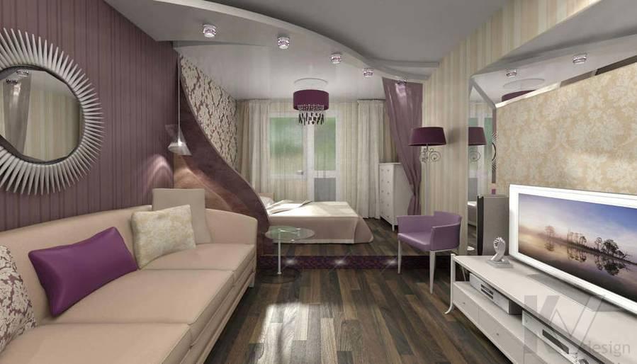 Дизайн квартиры П-3, гостиная
