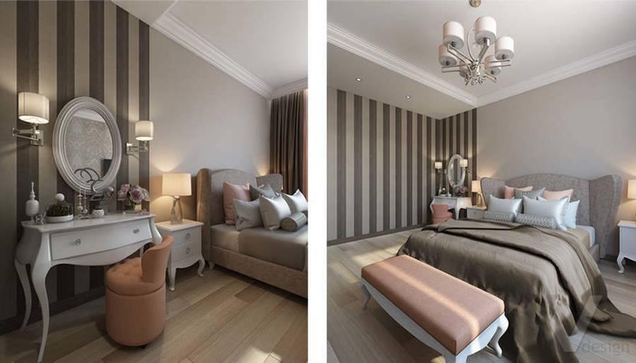 """Дизайн спальни в 2-комнатной квартире, ЖК """"Авеню 77"""" - 1"""