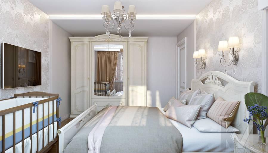 Спальня в 3-комнатной квартире П-44Т, Люблино - 3