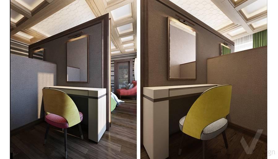 Дизайн спальни в трехэтажном доме - 6