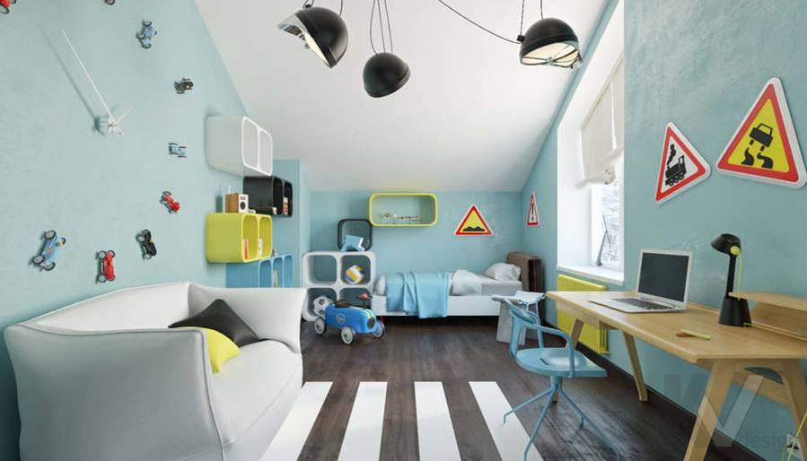 Дизайн комнаты мальчика в доме, КП Пестово - 8